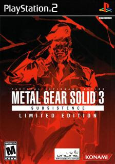 Metal Gear Solid 3: Subsistence Limited Edition   PS2