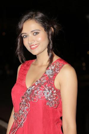 Radiant Sunitha rana photos in red hot long dress