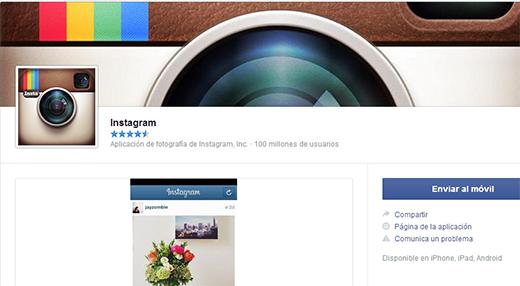 Como instalar Instagram desde Facebook