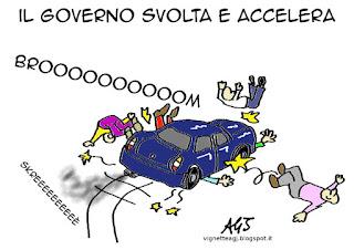 Renzi, Governo, riforme, economia, satira, vignetta