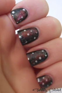 faithfully polished february nail art challenge galaxy nails