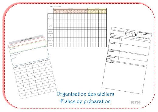 Organisation des ateliers en maternelle
