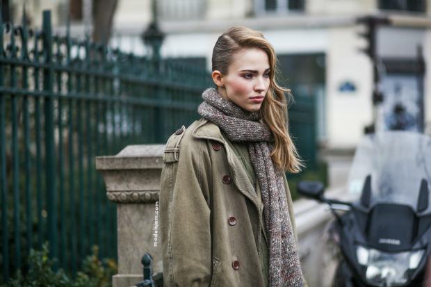 Sasha Luss, Paris, January 2015