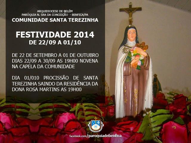 Festividade de Santa Terezinha 2014 Benfica Benevides Pará