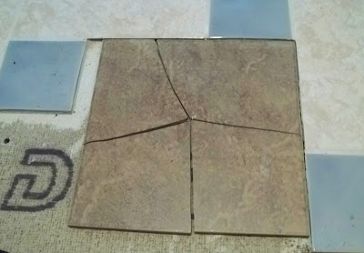 broken floor tile