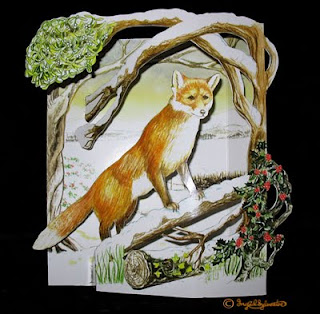 3D pop up wildlife greeting cards for sale by UK artist Ingrid Sylvestre