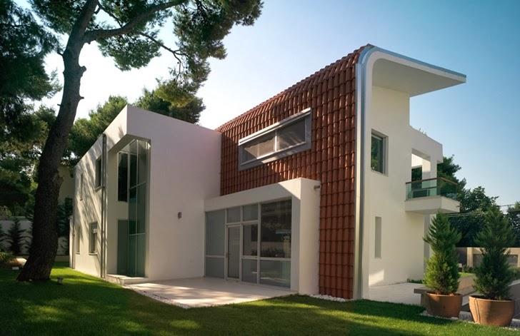 Facade of Kostala House by Thanos Athanasopoulos