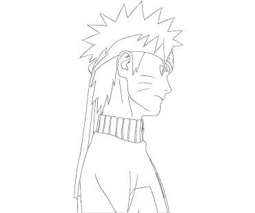 #4 Naruto Coloring Page