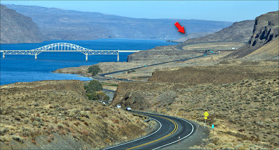 Vantage Bridge over the Columbia River.