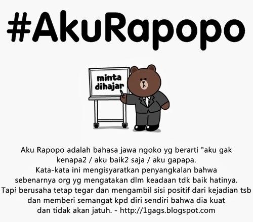 Definisi dari #AkuRapopo Adalah?