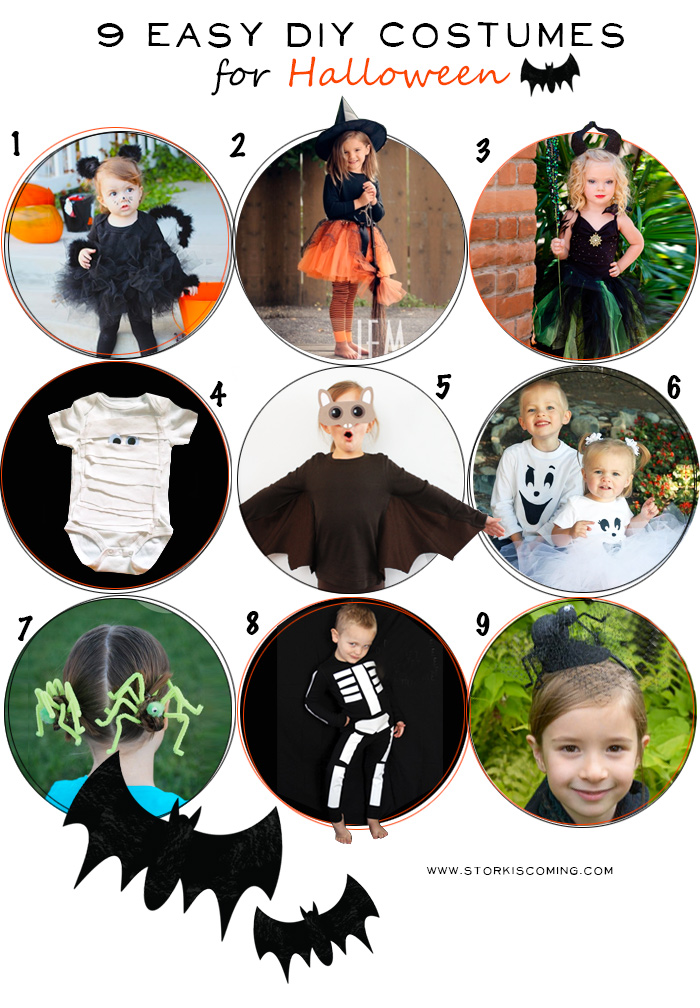 halloween easy diy spooky costumes for kids - Halloween Costumes Diy Kids