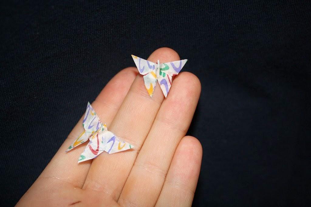 gum wrapper origami