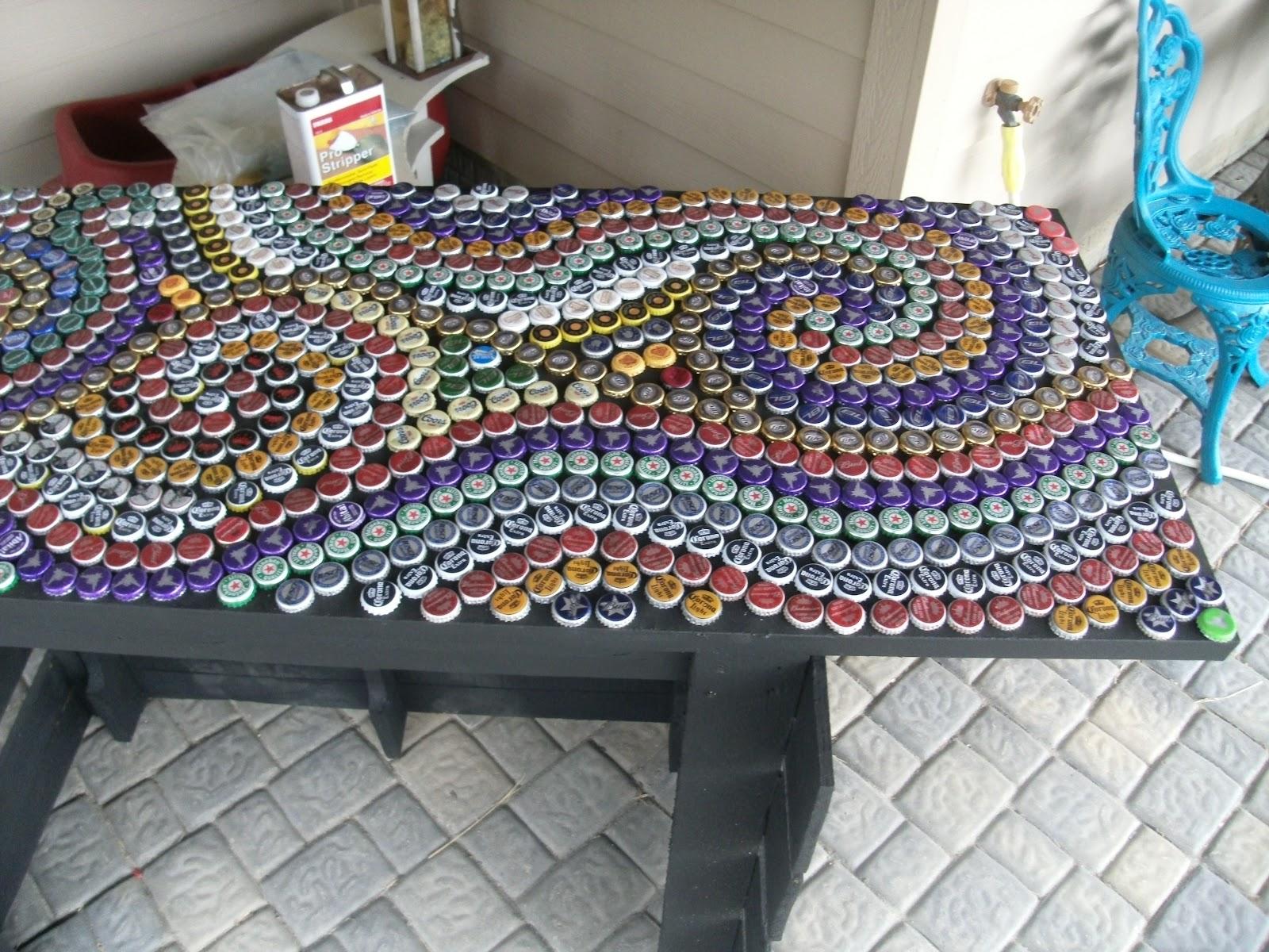 My ArtProjects Bottle Cap Countertop