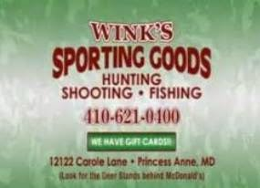 Wink's Sporting Goods 410-621-0400