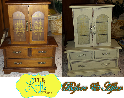 Thrifty little things annie sloan chalk paint projects for Old jewelry box makeover