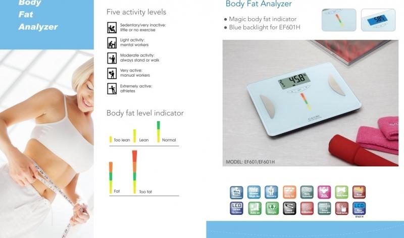 Cân sức khỏe điện tử và kiểm tra độ béo