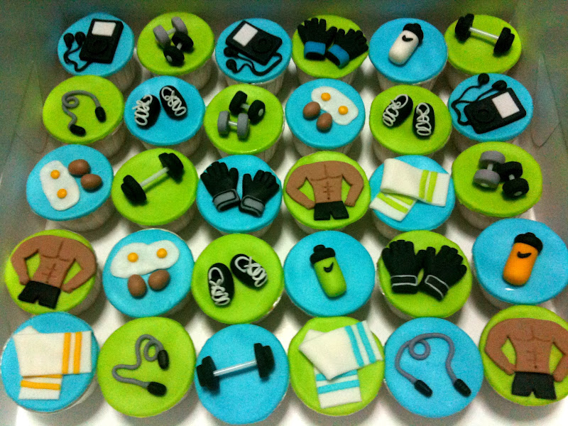 Oven Creations: Gym Theme Cupcakes
