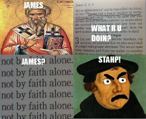 Faith only believers, how is James 2 reconciled with Faith