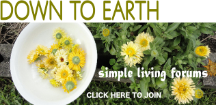JOIN OUR SIMPLE LIVING FORUM