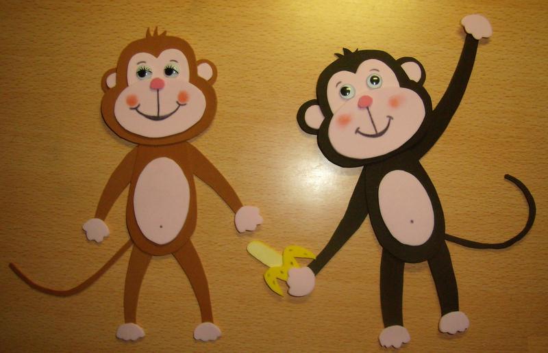 Goma Eva: Molde de monos