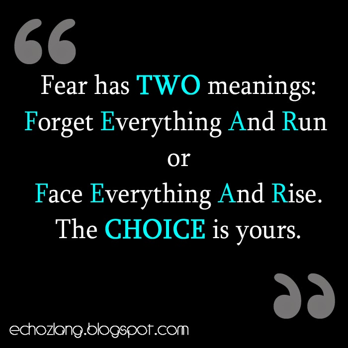 The two meanings of FEAR