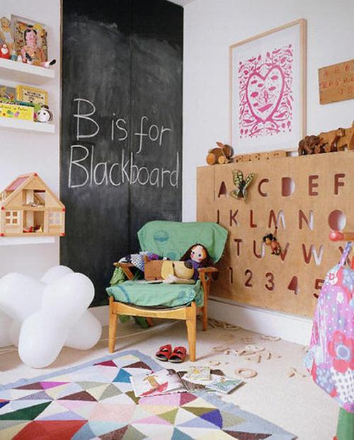 Lalole blog pintura de pizarra no solo en la pared - Pizarras para decorar ...