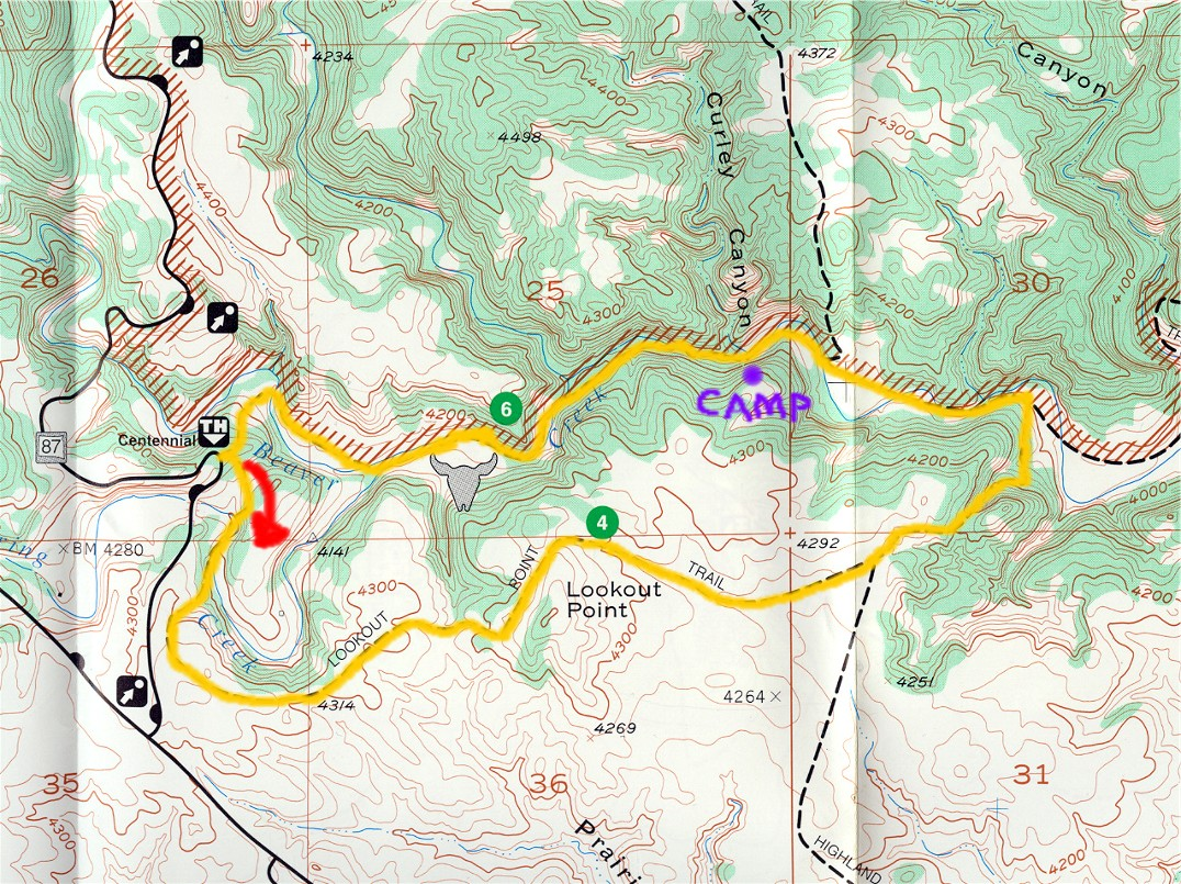 the map below highlights the main trail however we did wander off the beaten path a couple times as you will soon see i marked the approximate area where