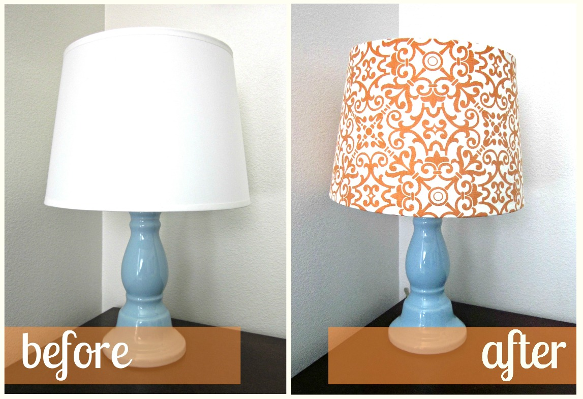 Fabric lampshade recover tutorial - Diy lamp shade ...