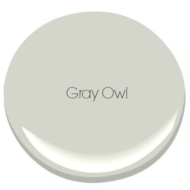 The Holland House: Benjamin Moore Gray Owl