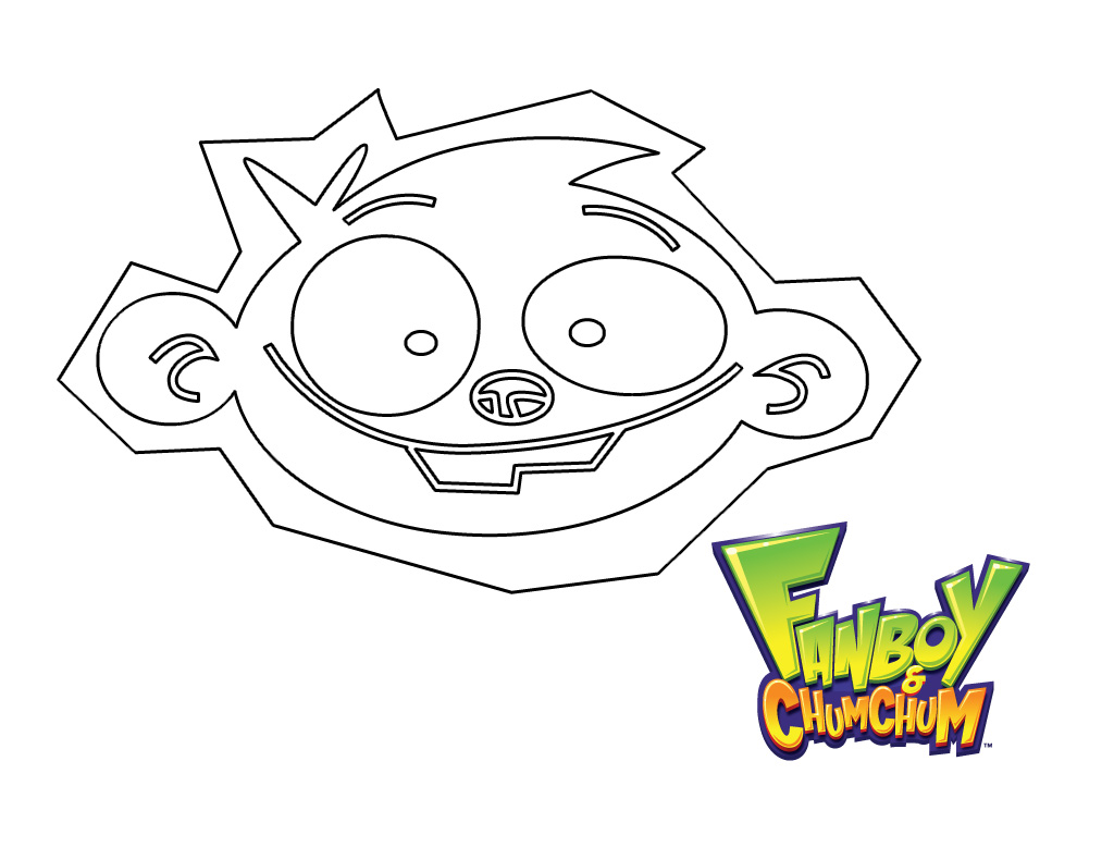 Free coloring pages of the amazing chan and the chan clan for Fanboy and chum chum coloring pages