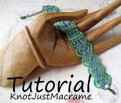 Leaves micro macrame bracelet tutorial