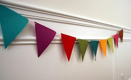 6 diy bunting flags
