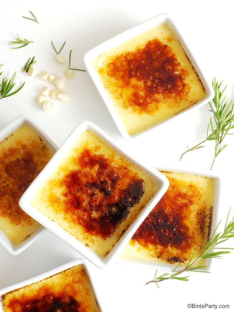White Chocolate & Rosemary Crème Brulée Recipe