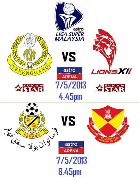 Live Streaming Terengganu vs Lions XII 7 Mei 2013 - Liga Super 2013