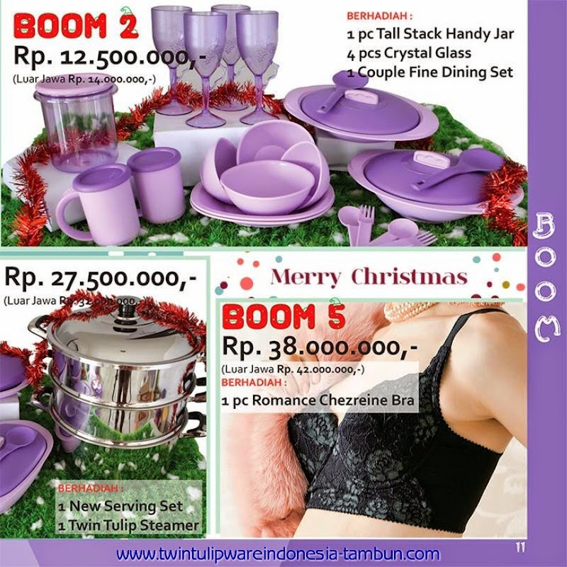 BOOM Twin Tulipware Tupperware November - Desember 2014