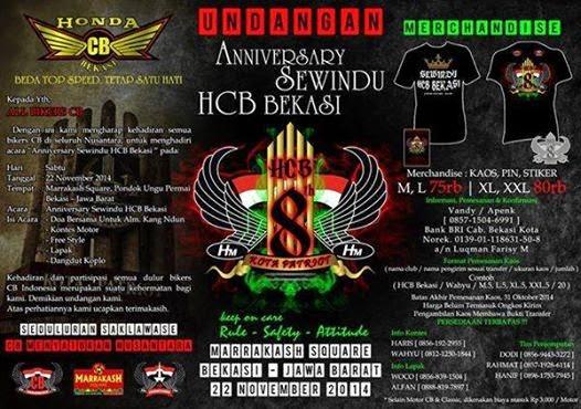 Acara CB Sewinu Honda CB Bekasi