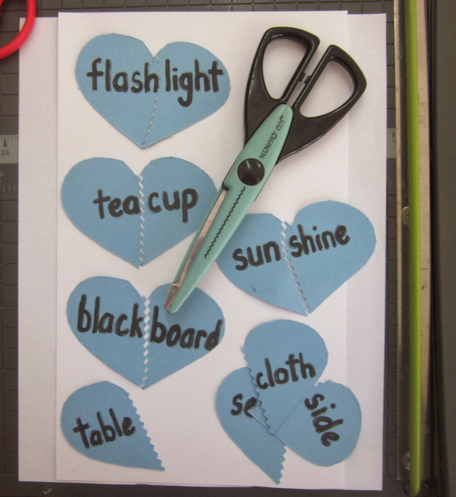 Valentine's Day activity for Compound words