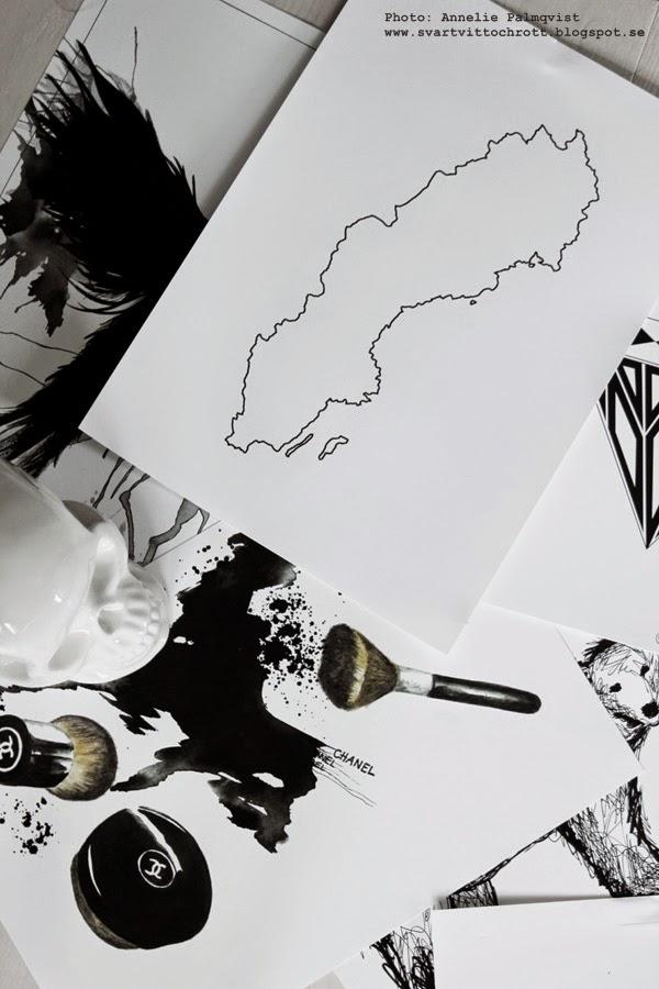 poster, svartvita posters, svart och vitt, svartvitt, tavlor, tavla, tavlan, sverige, sminktavla, make up motiv, puder, powder, artprints, konsttryck, på väggen, vitt, vita,