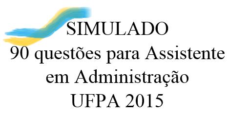 CONCURSO DA UFPA 2015