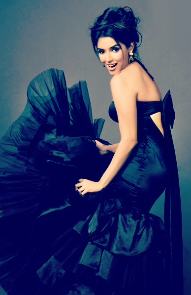 Asin looks gorgeous in a black ruffle dress - Asin photoshoot latest Hot Pics