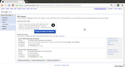 Debug API Key for Google Maps Android API v2 service