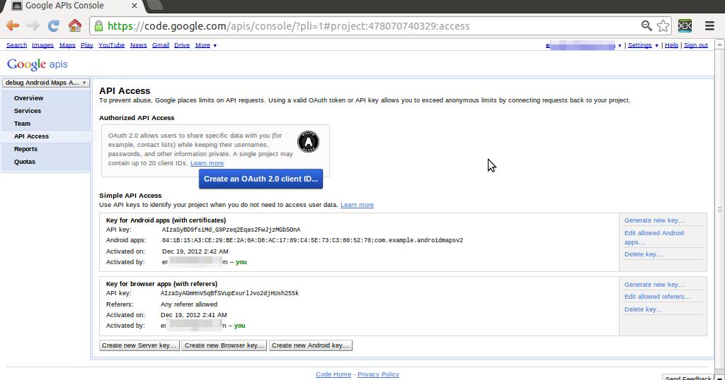 Generate Google Map Apiu Key For Site debug+API+Key