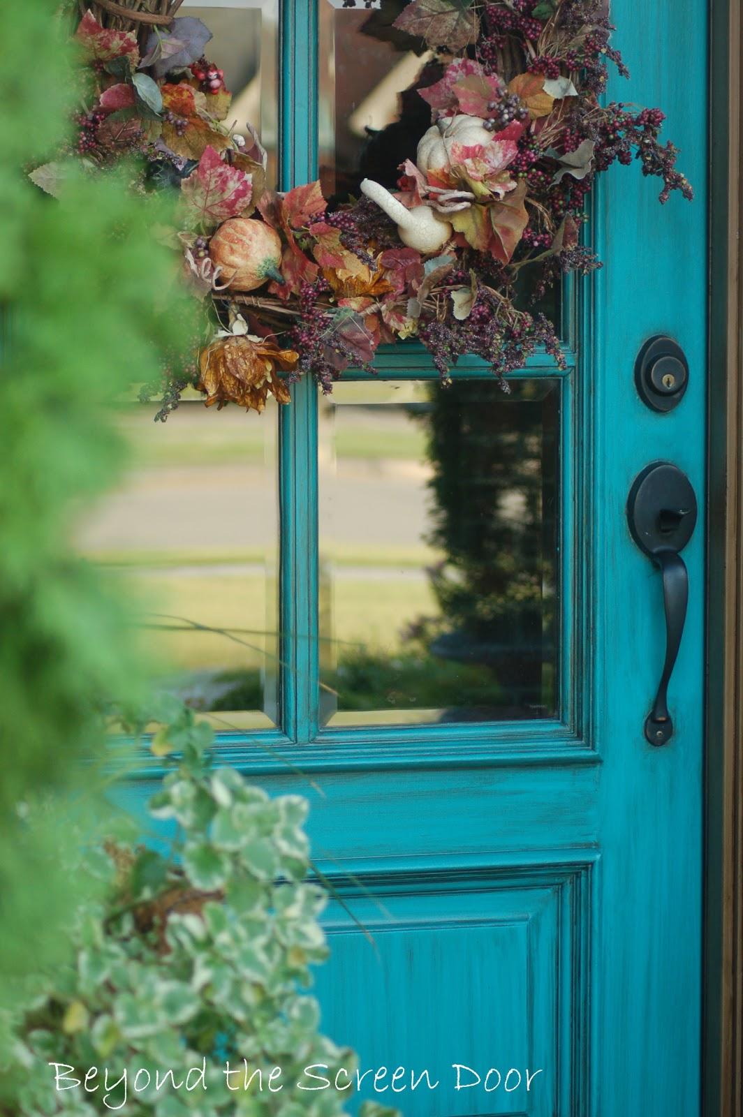 turquoise front doorMore Turquoise Front Doors  Beyond the Screen Door