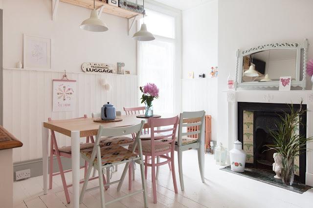 """[Vintage] Una vivienda """"modern vintage"""" llena de luz y color"""