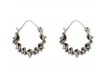 Pamela Love x Zadig & Voltaire Silver Serpent Earrings