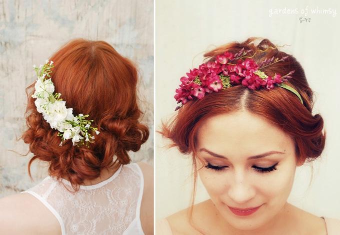 de las posibilidades que a mí más me gustan, y que es perfecta para las bodas más románticas (y primaverales) son los detalles de flores en el cabello.