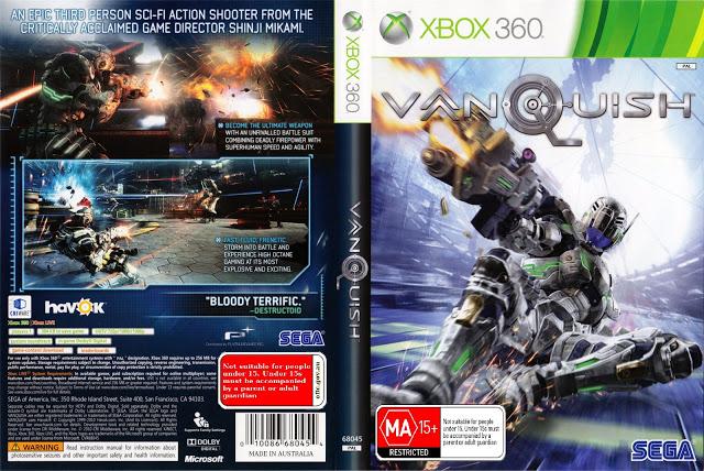 Capa Jogo Vanquish Xbox 360