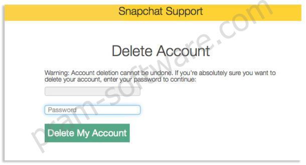 Konfirmasi Menghapus Akun Di Snapchat