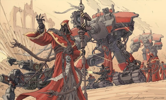 Adeptus Mechanicus Image, and a Walker Seen?