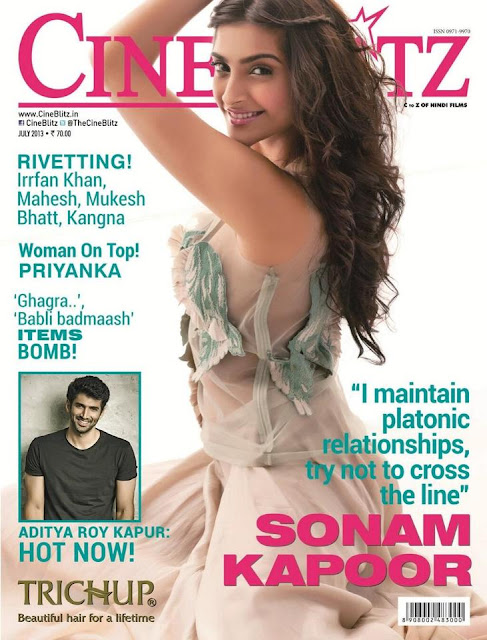 Gorgeous Sonam Kapoor on the cover page of cineblitz